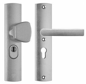 axa deurbeslag kruk/duwer 6665-51-11 55mm + kerntrekbeveiliging skg3