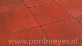 rubbertegel rood 25x500x500