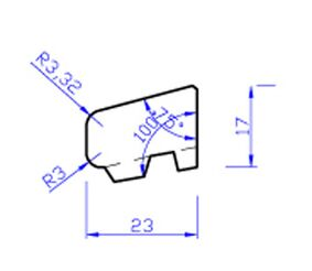 Meranti glaslat gevingerlast c1 80mu gegrond  17x25,8x4000