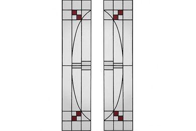 WEEKAMP Glas In Lood 4 Glasset T.B.V. WK6542 En WK6552 830x2115mm