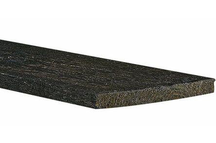 vlotdeel ruw verduurzaamd zwart 25x200x5000