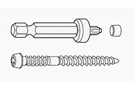 unipanel schroef met afdichtingsdopjes 4x50mm (set van 100 stuks)