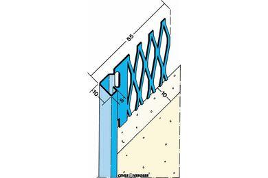 Stucstopprofiel 1231 Verzinkt Staal 10x2600mm