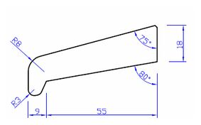 meranti glaslat n55 80mu gegrond 18x70x4000